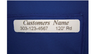 Professional Touch Laundry Services Provides Custom Labels for Table Linens
